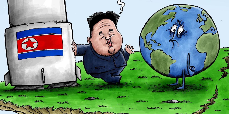 North Korea splits its pants, in Nate Beeler's latest ... |Current Political Cartoons North Korea